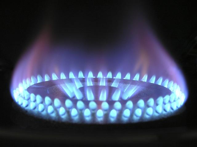 gas burner flame on