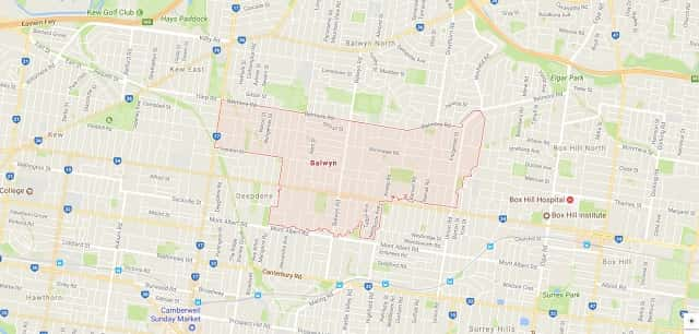 balwyn victoria map