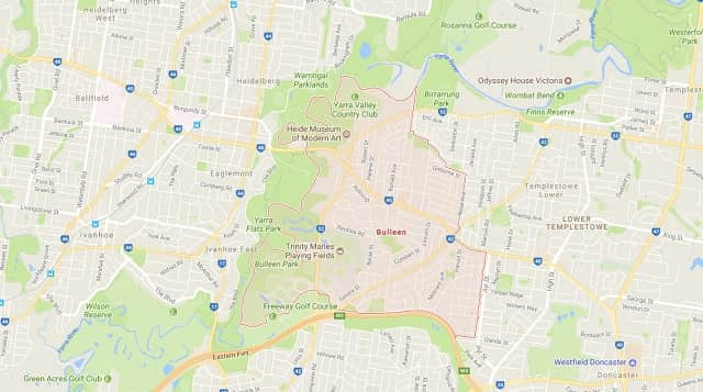 map of bulleen